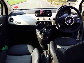 FIAT 500 1.4 SPORT 2010 REG FUNK WHITE LOW MILEAGE TAX & MOT image 2