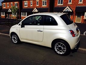 FIAT 500 1.4 SPORT 2010 REG FUNK WHITE LOW MILEAGE TAX & MOT image 3