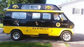 1972 FORD E300 CONVERSION VAN, IOWA HAWKEYE TAILGATE VAN !!!